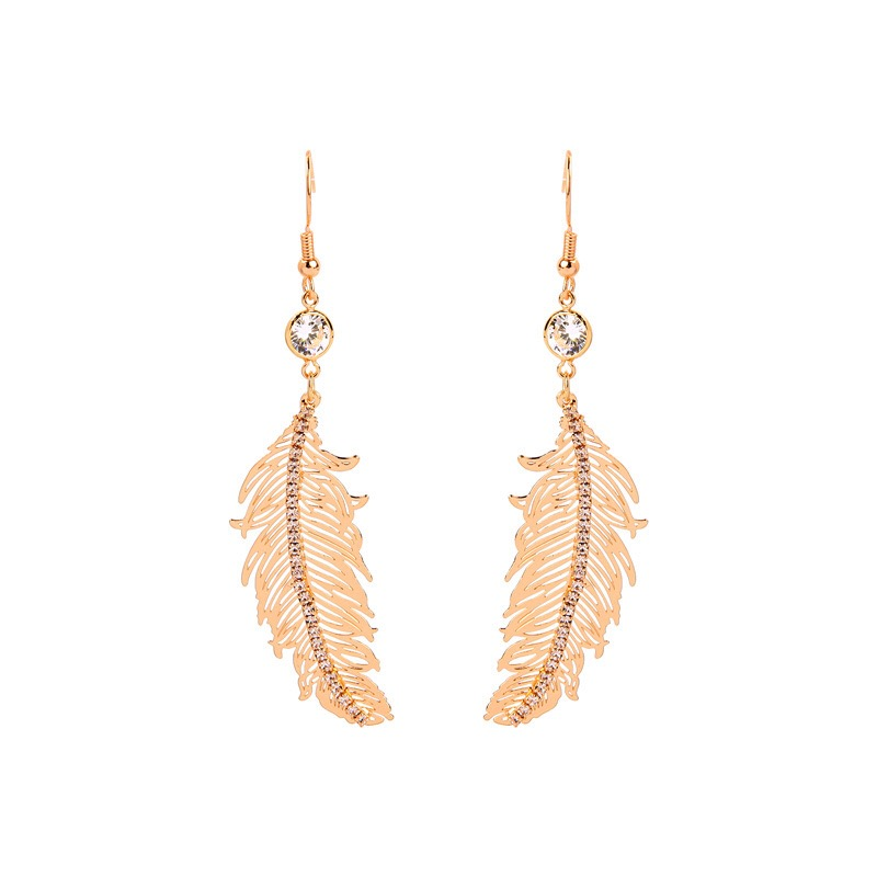Fashion feather design earring