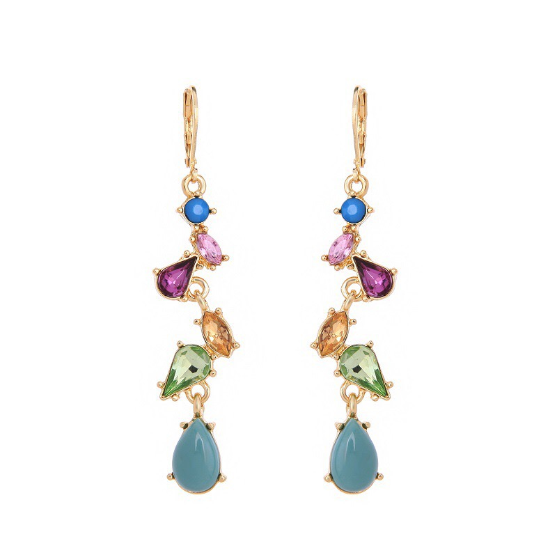 Fashion color stone earring
