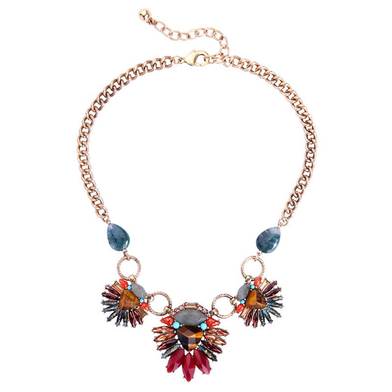 Fashion color stone necklace