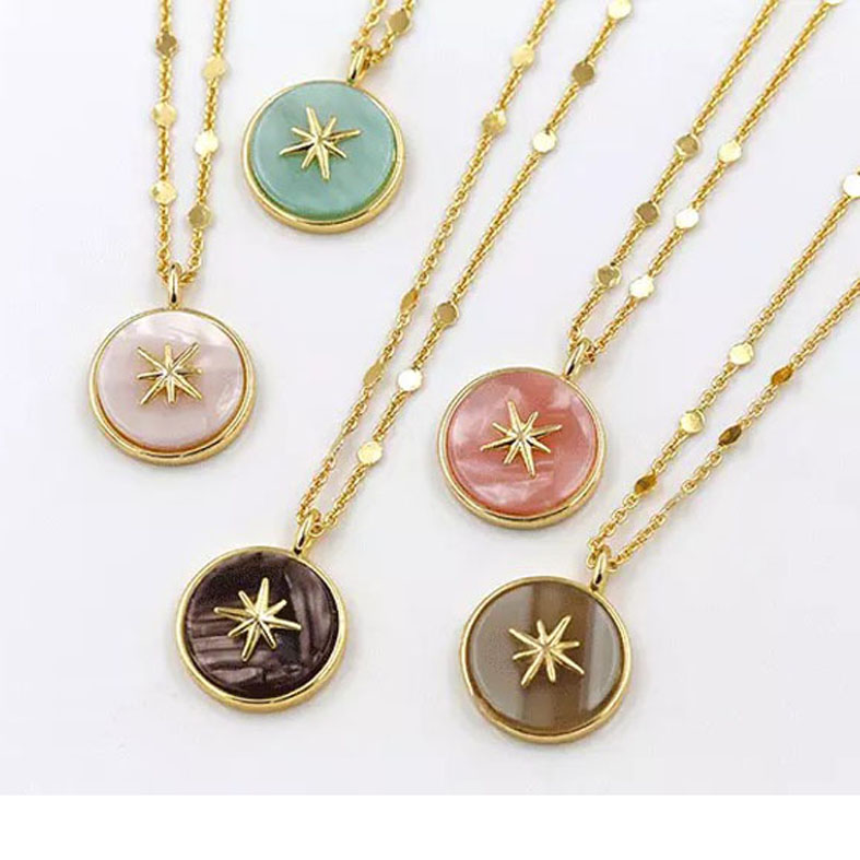 Fashion eight star Pendant