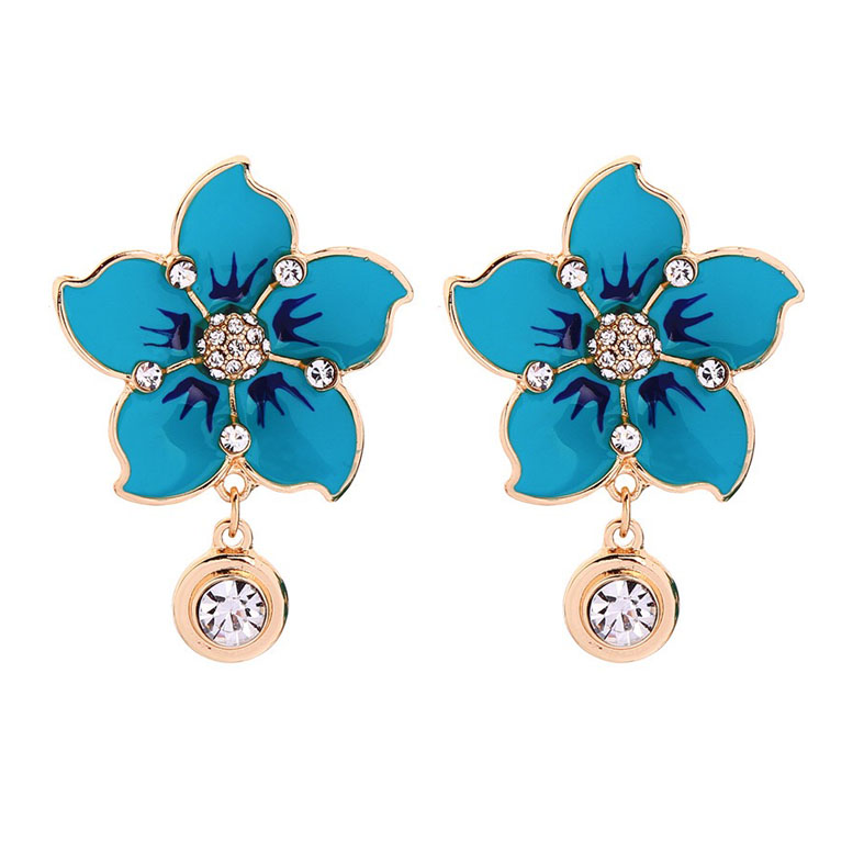Fashion color flower design earring