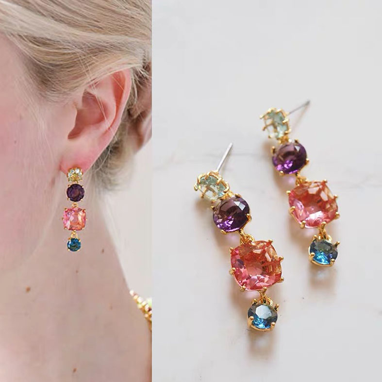 Quality color stone earring