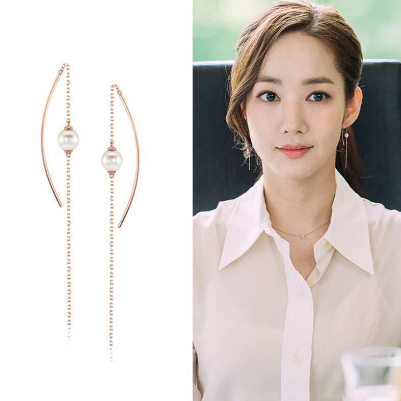 Fashion long chain earring