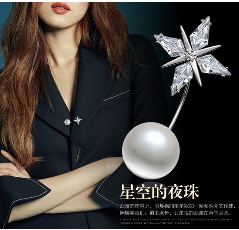 Quality hot sale Star shape brooch