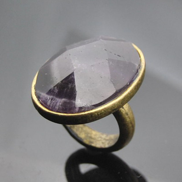 Antique nature stone ring